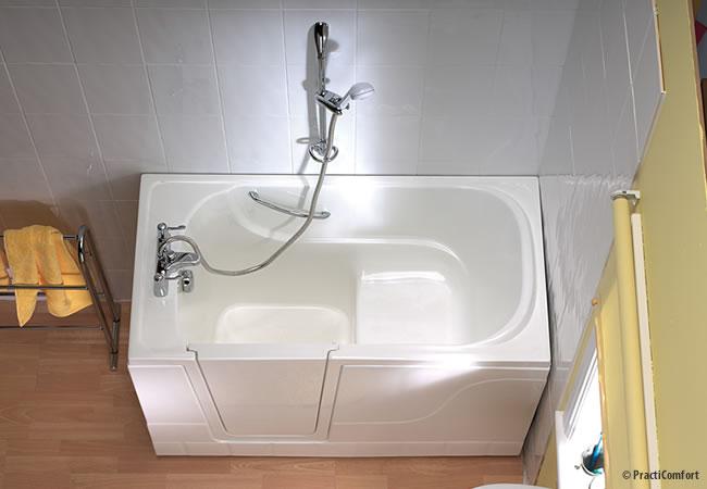 Klein zitbad voor kleine badkamers instapbad be