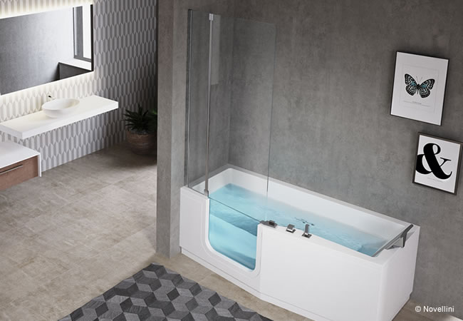 Bad voor senioren het seniorenbad met deur instapbad be